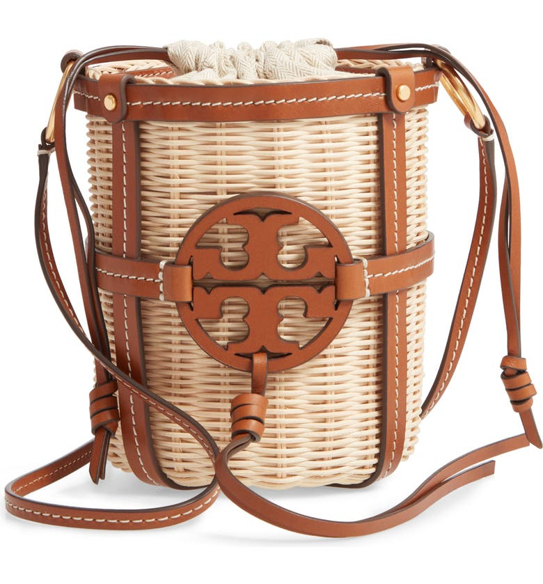 Miller Wicker Bucket Bag by Tory Burch