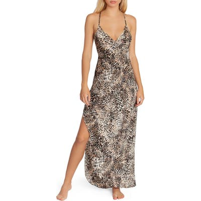In Bloom By Jonquil Leopard Print Nightgown, Brown