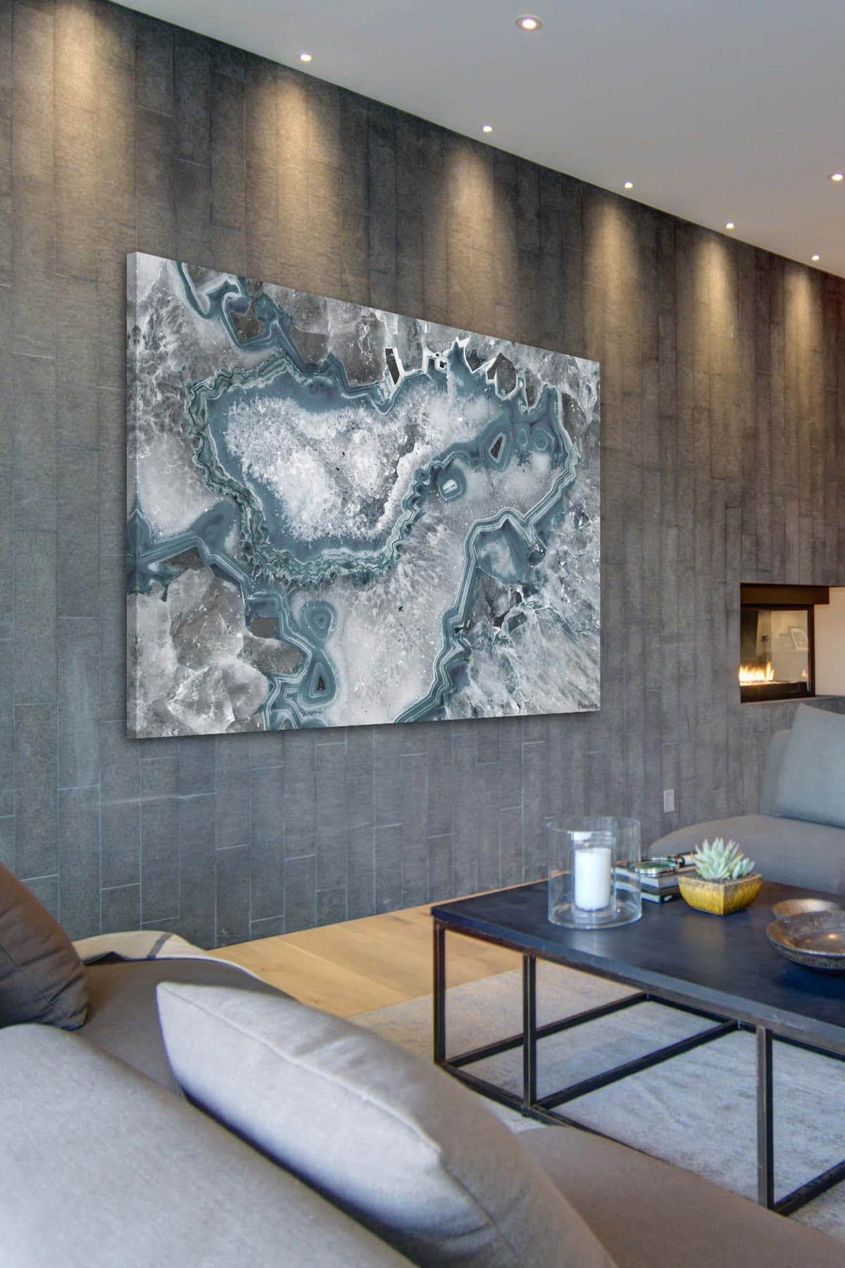 Image of Marmont Hill Inc. Icy Layers Wall Art