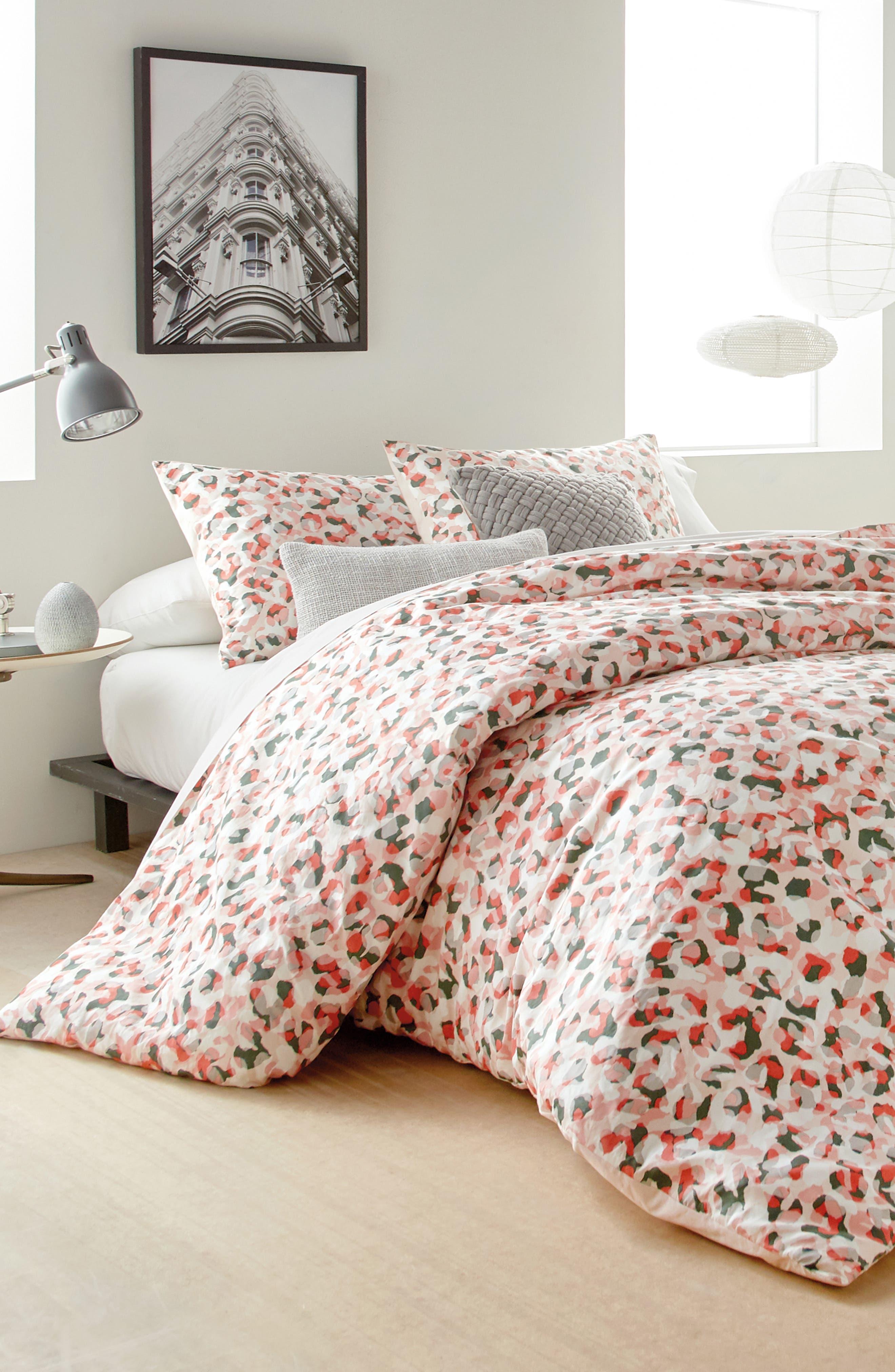 Wild Geo Comforter & Sham Set, Main, color, BLUSH