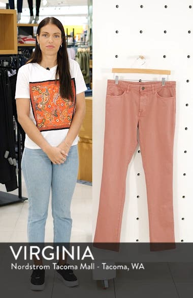 'Sunny' Slim Fit Stretch Twill Pants, sales video thumbnail