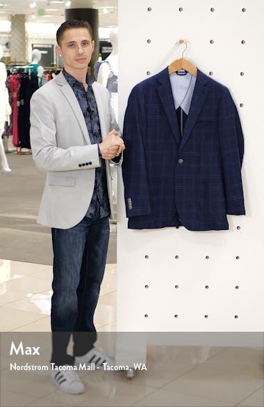 Classic Windowpane Stretch Wool Jacket, sales video thumbnail