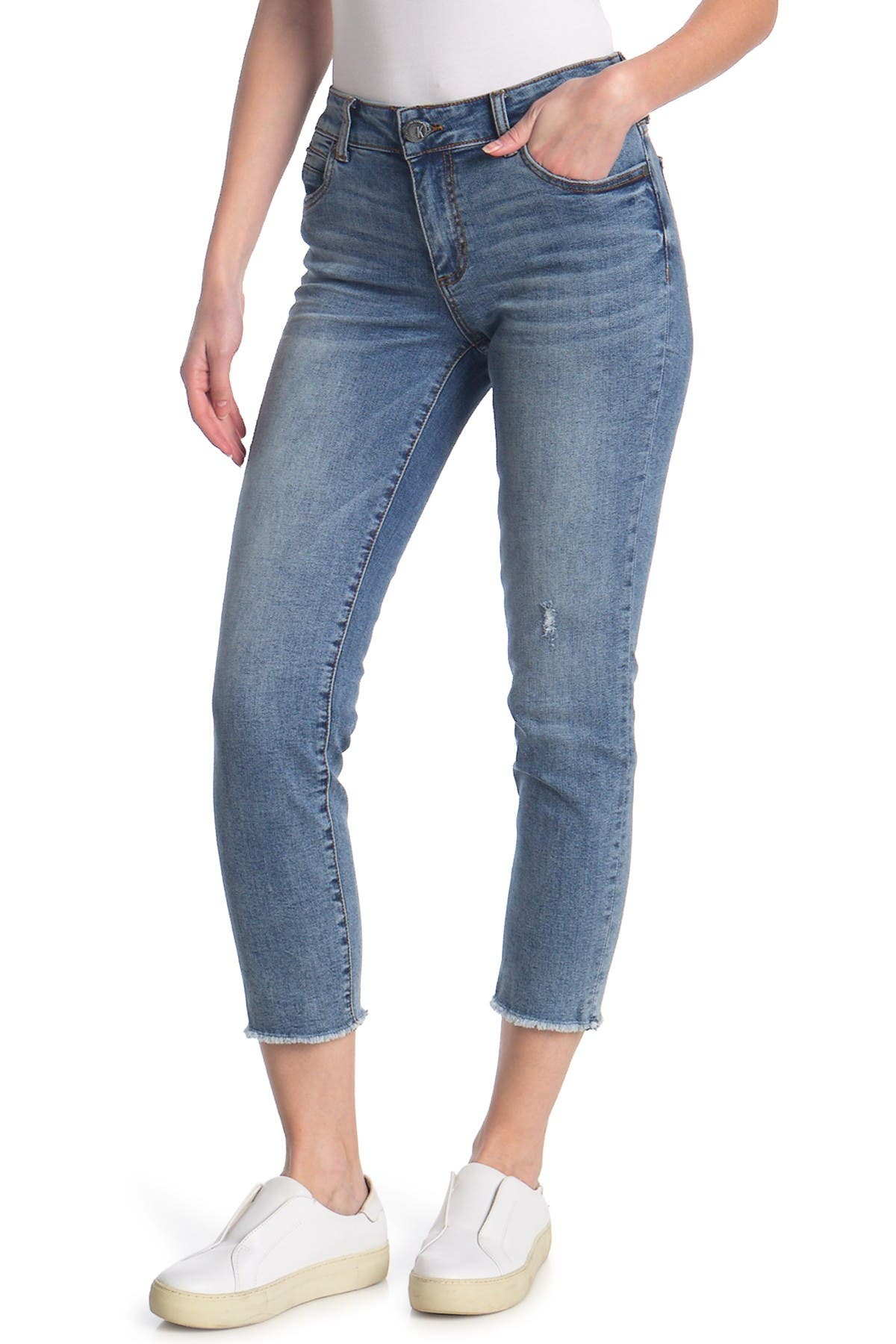 Image of KUT from the Kloth Catherine Ankle Straight Leg Jeans