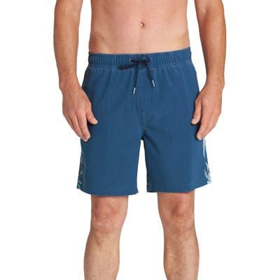 Billabong Dbah Side Stripe Swim Trunks, Blue