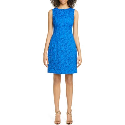 Adam Lippes Corded Lace Flare Dress, Blue