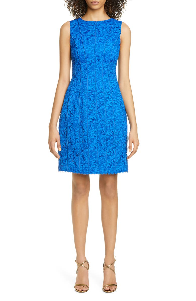 ADAM LIPPES Corded Lace Flare Dress, Main, color, 420