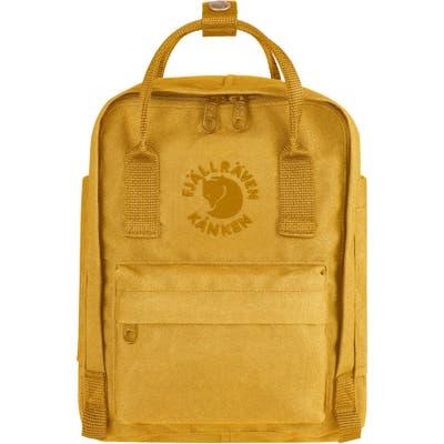 Fjallraven Mini Re-Kanken Water Resistant Backpack - Yellow