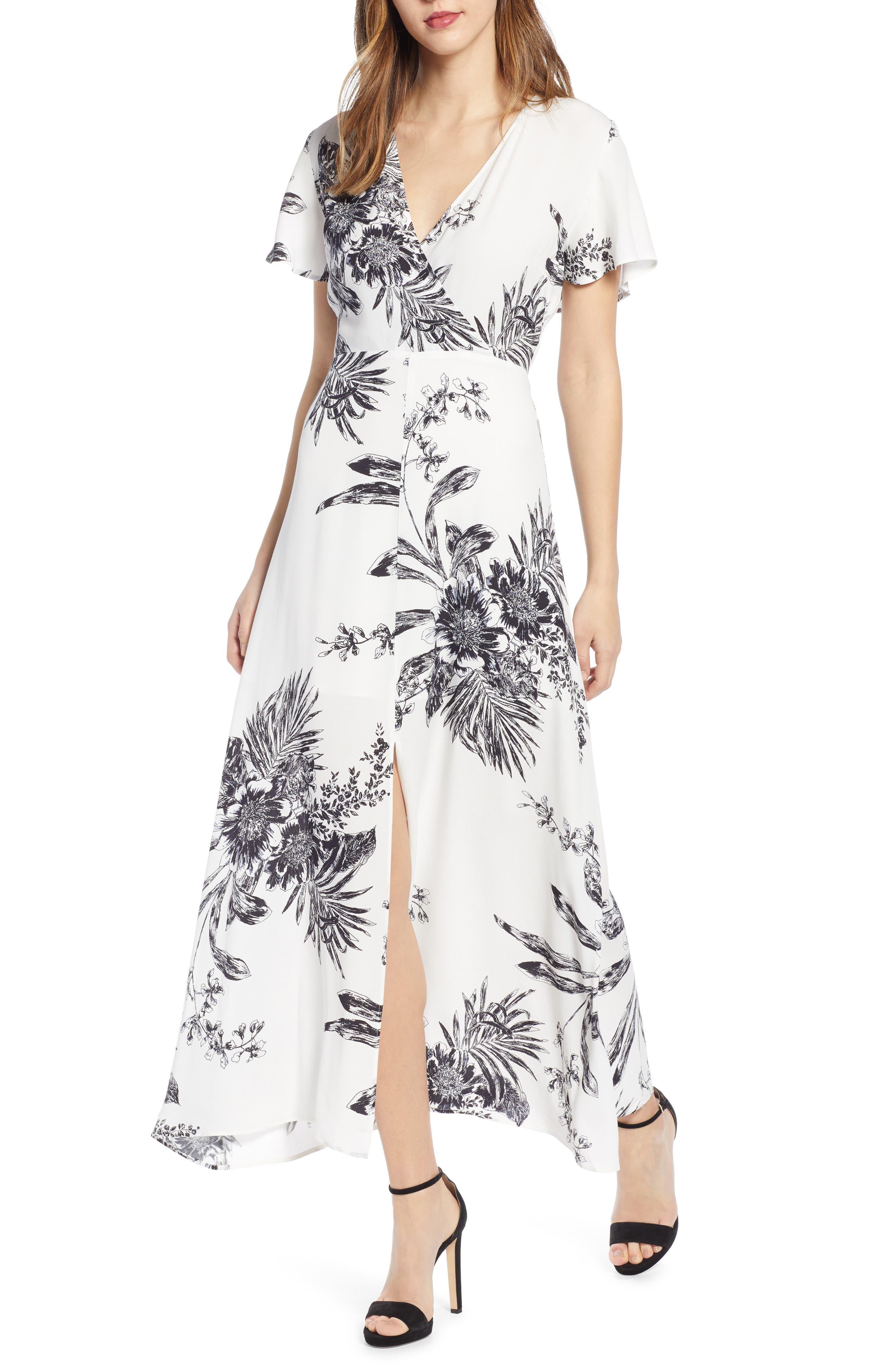 Leith Surplice Maxi Dress