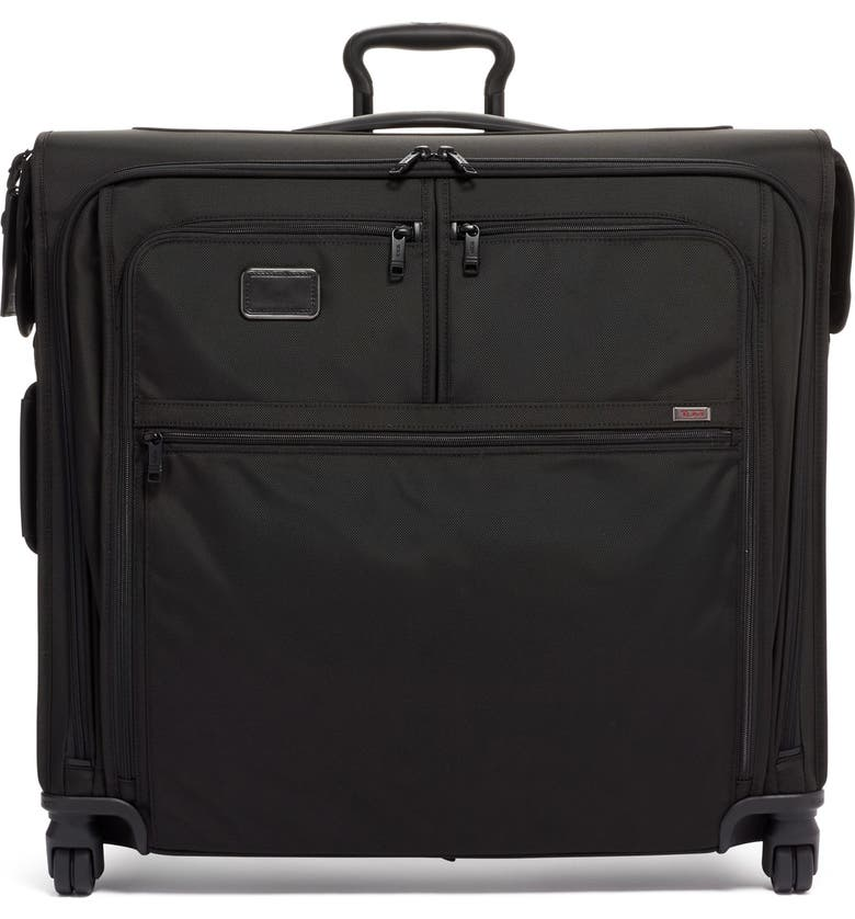 TUMI Alpha Extended Trip Wheeled Garment Bag, Main, color, BLACK