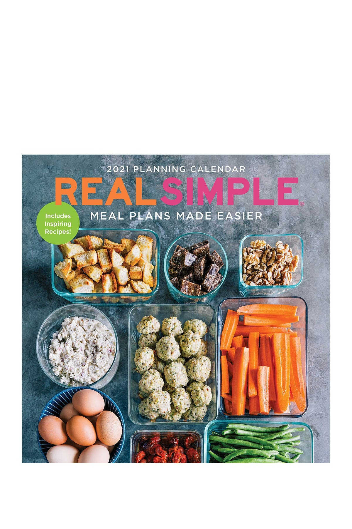 Image of TF Publishing 2021 Real Simple-Meal Plans Made Easier Wall Calendar