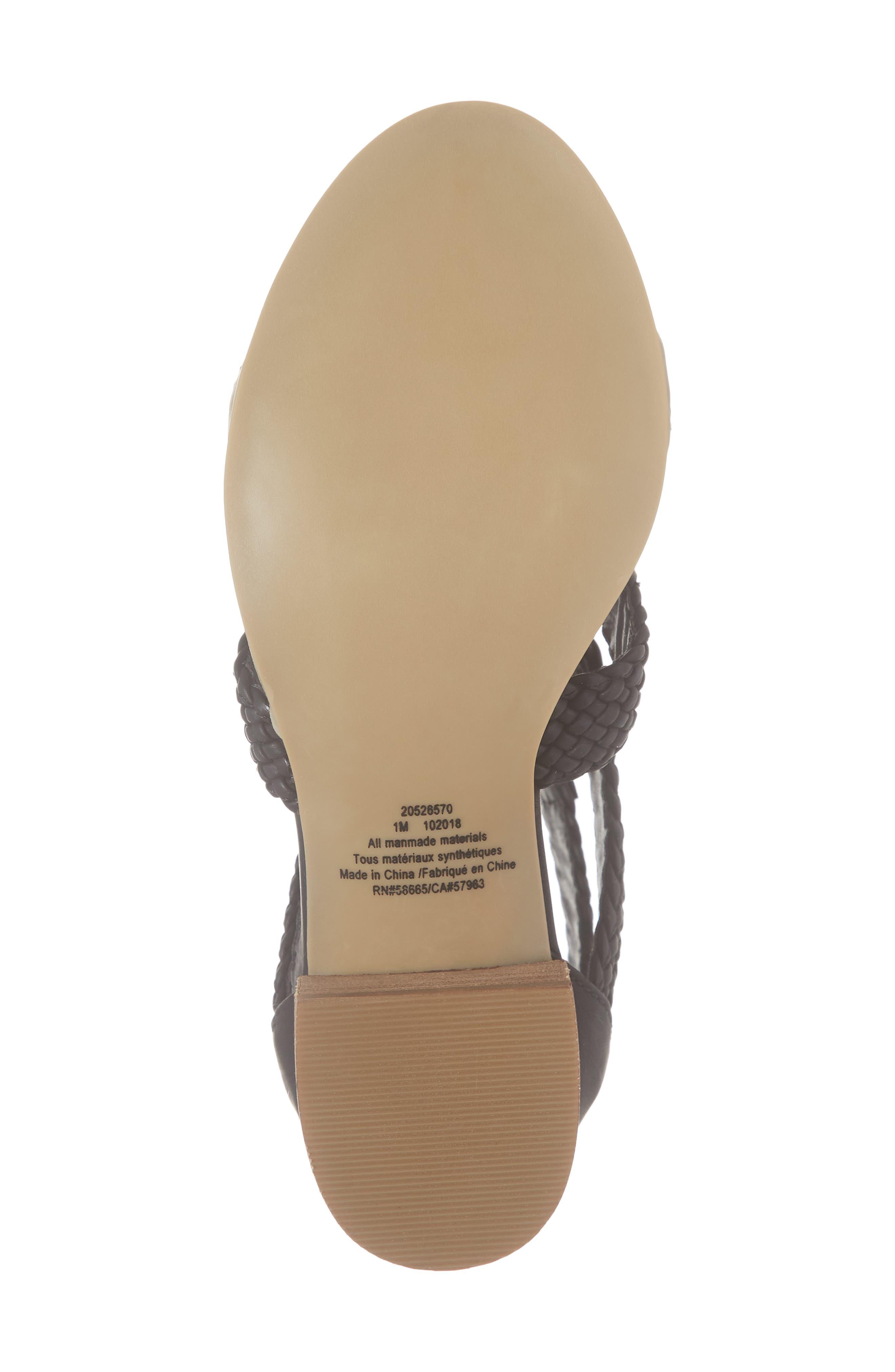 ,                             Layla Block Heel Sandal,                             Alternate thumbnail 6, color,                             BLACK FAUX LEATHER