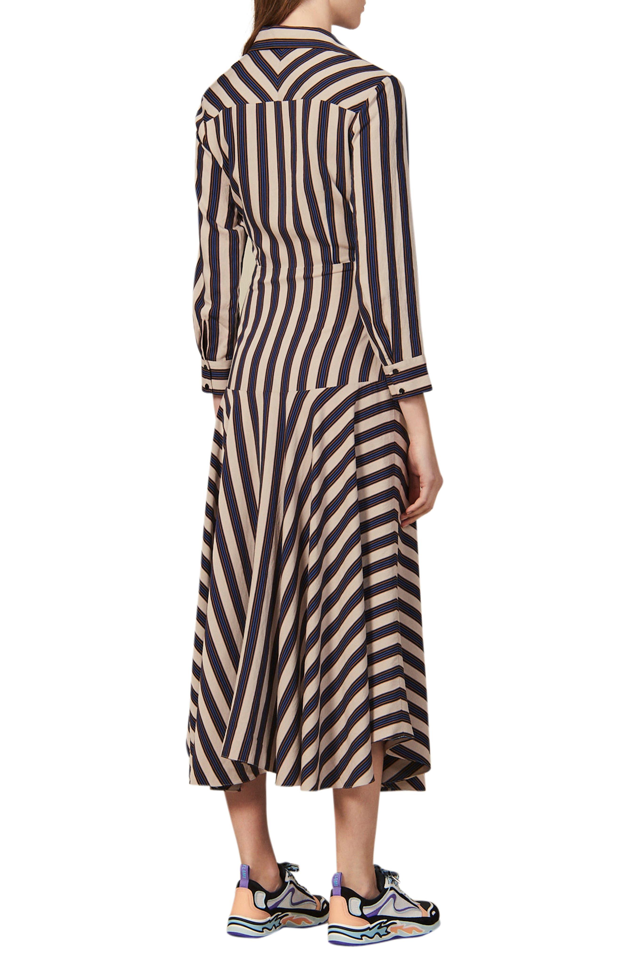 SANDRO Midi dresses Vilna Stripe Long Sleeve Midi Dress