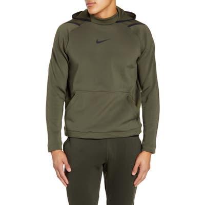 Nike Pro Dri-Fit Fleece Hoodie, Green
