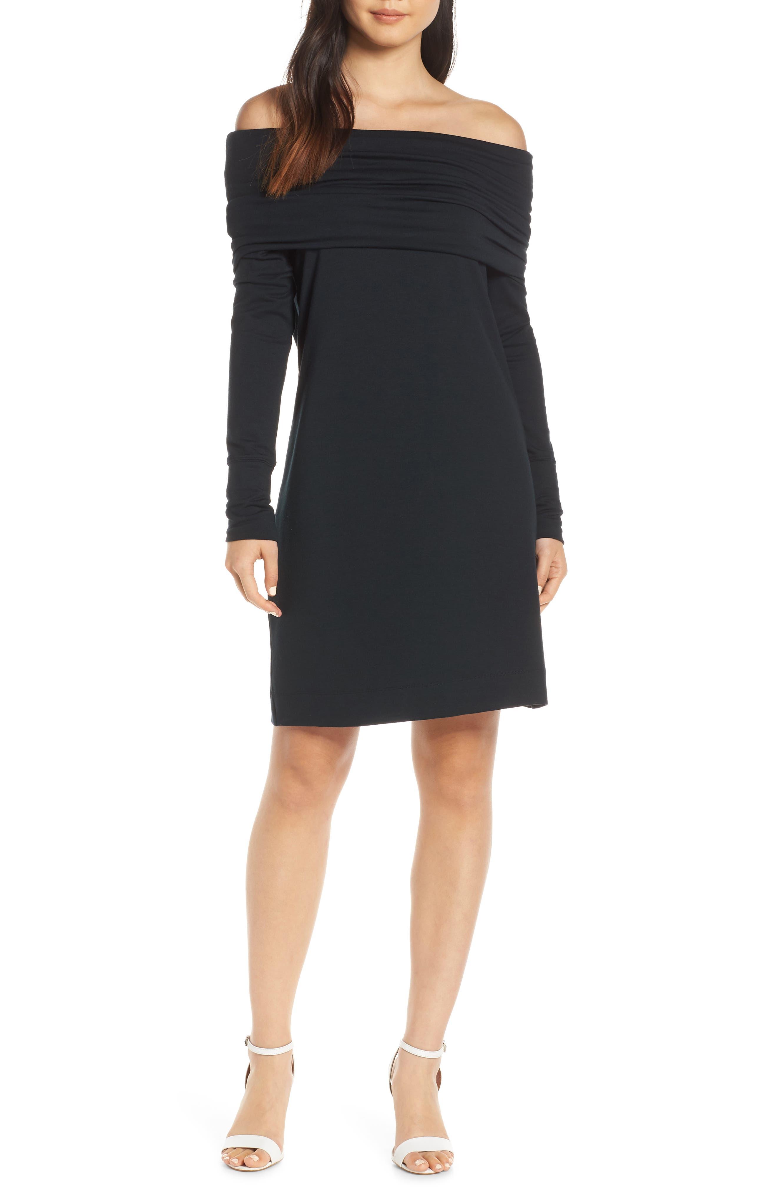 Lilly Pulitzer Belinda Off The Shoulder Banded Dress, Black