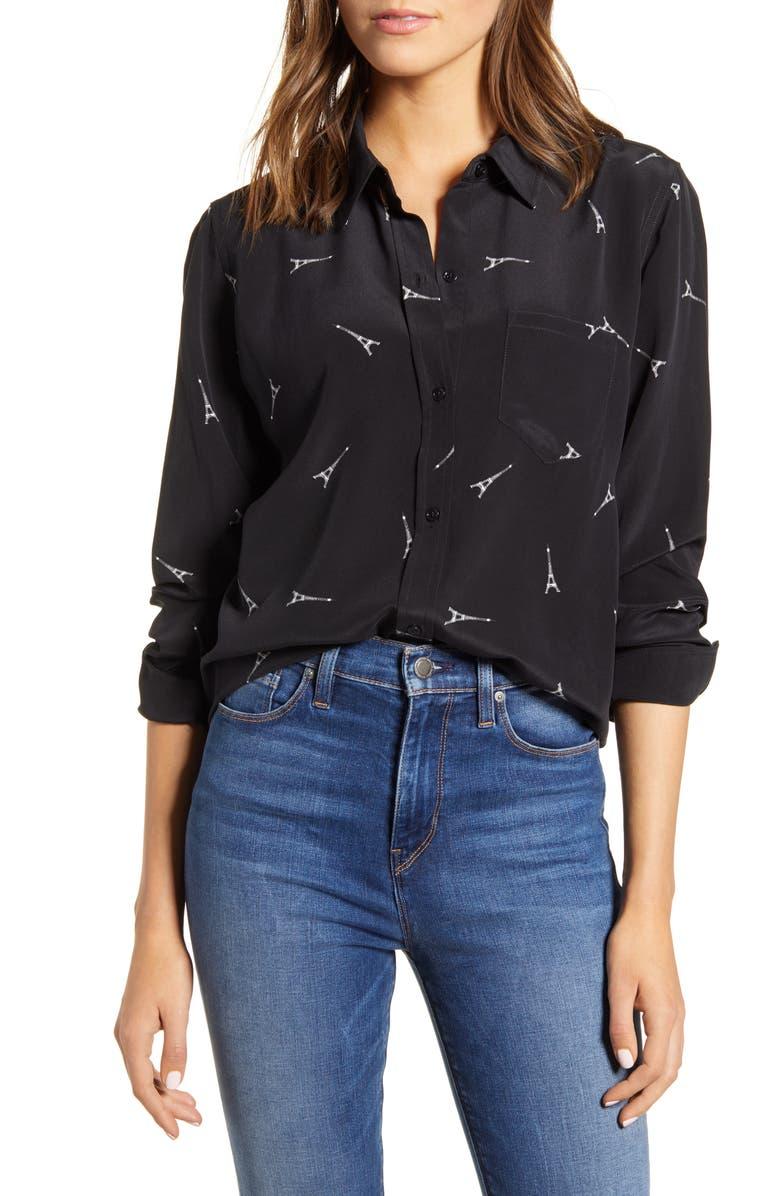RAILS Kate Print Shirt, Main, color, 002