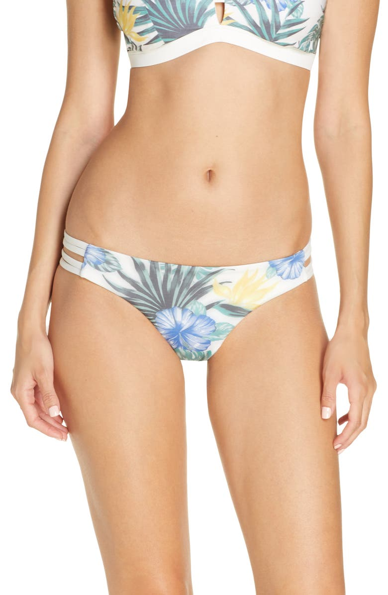 HURLEY Max Lanai Mod Surf Bikini Bottoms, Main, color, SAIL