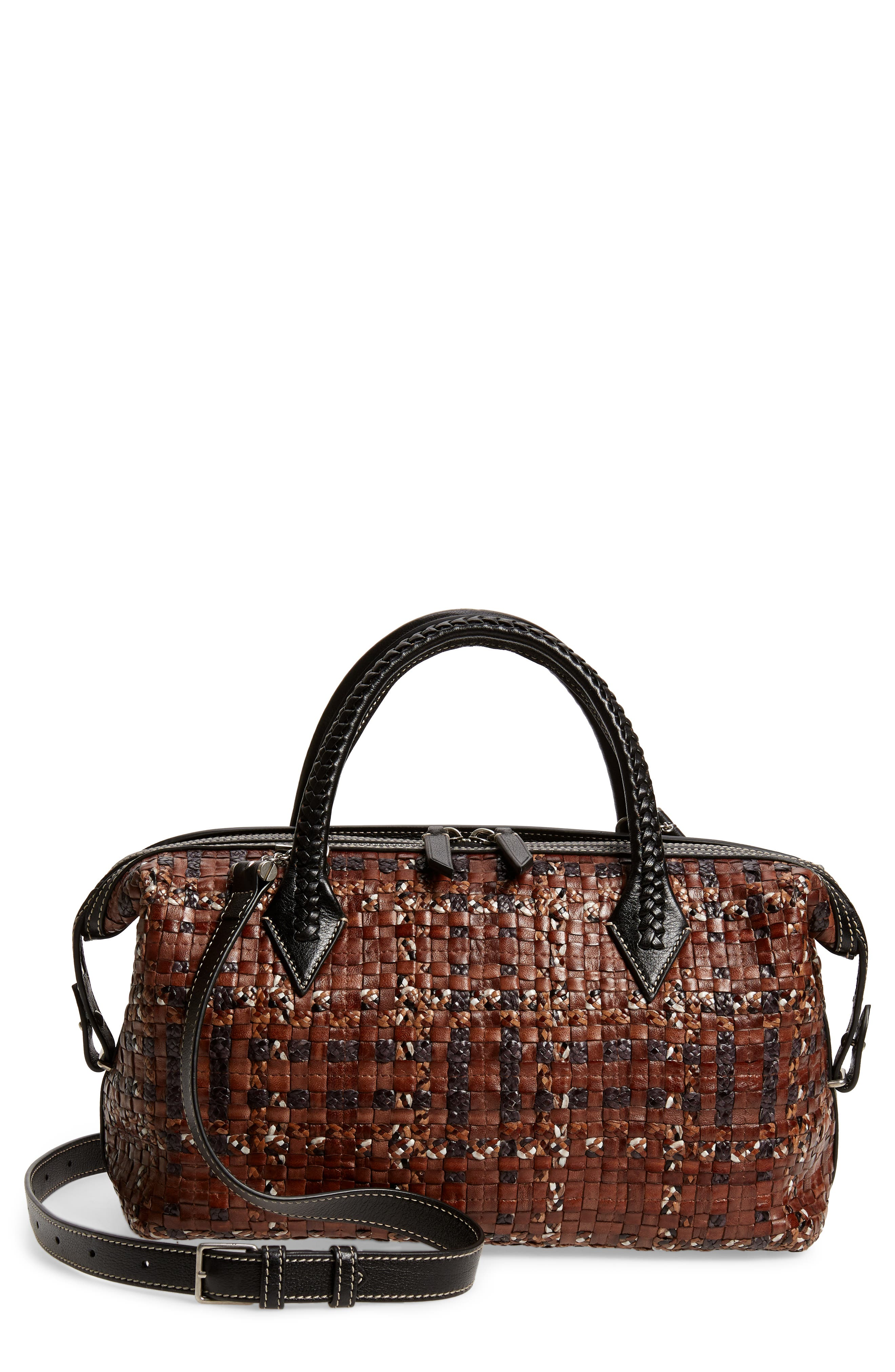 Small Perriand City Leather Duffle Handbag