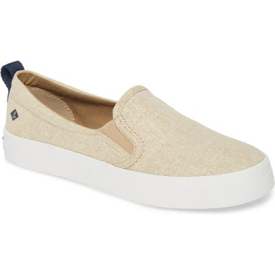 Sperry Crest Twin Gore Slip-On Sneaker, Beige
