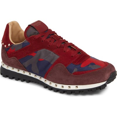 Valentino Garavani Studded Sneaker, Red