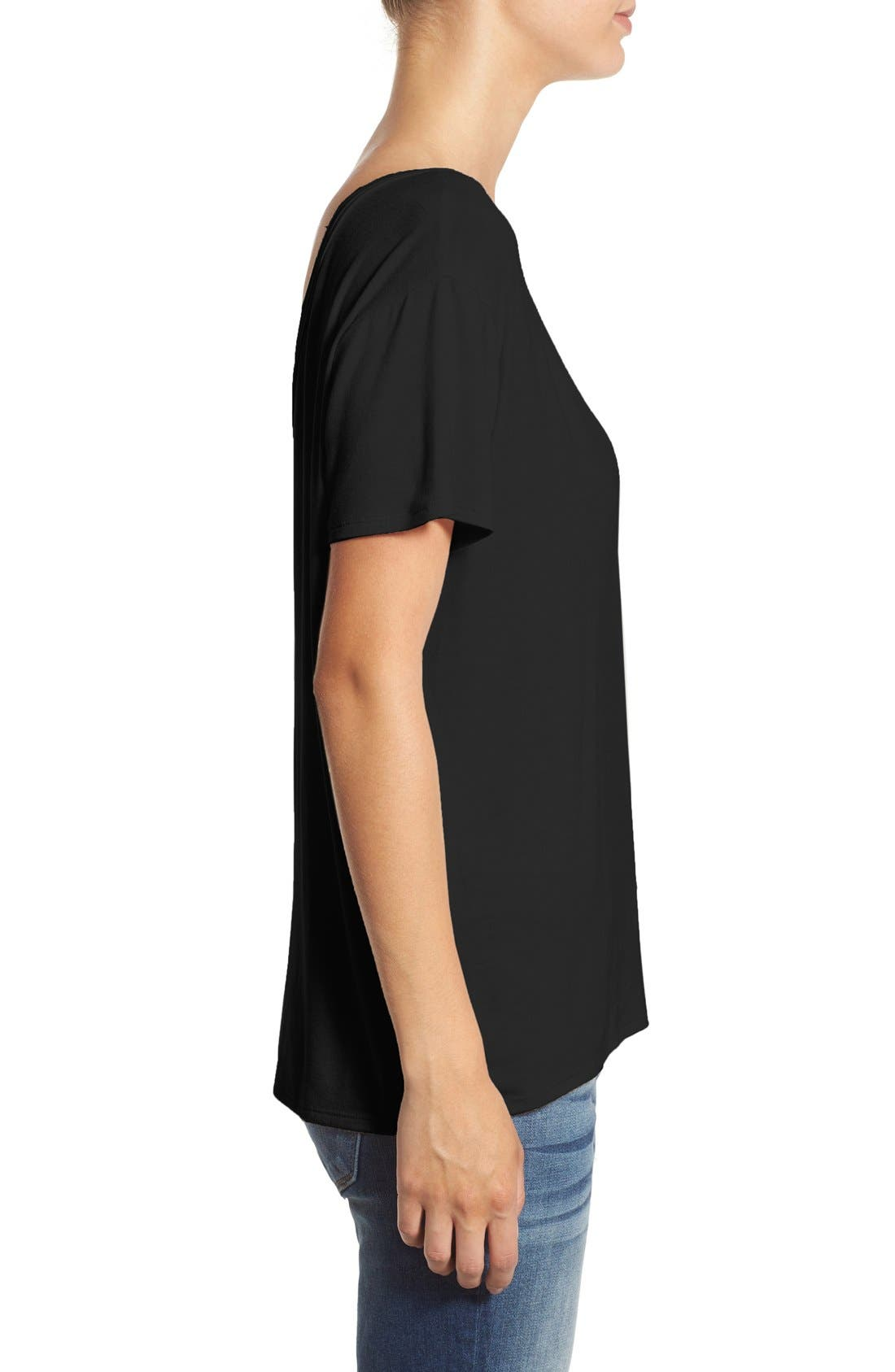 ,                             Cross Front Tee,                             Alternate thumbnail 7, color,                             001