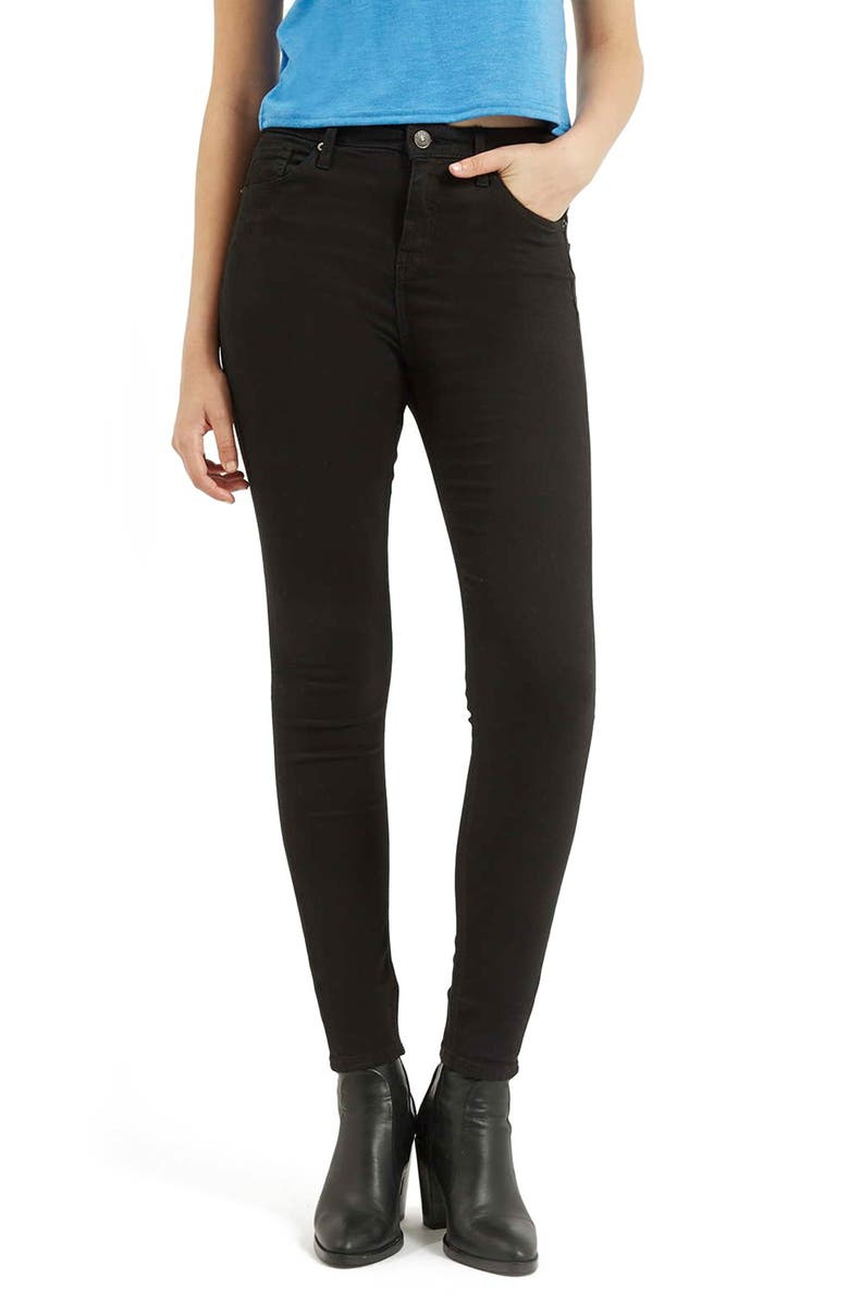 TOPSHOP Moto Jamie High Waist Ankle Skinny Jeans, Main, color, 001