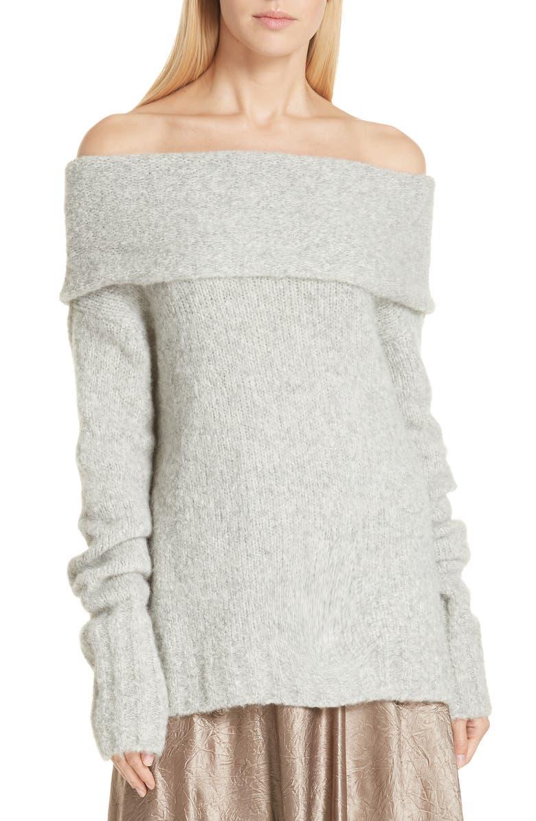 VINCE Off-the-Shoulder Alpaca Blend Sweater, Main, color, 053