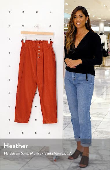 Lucie Corduroy Ankle Pants, sales video thumbnail