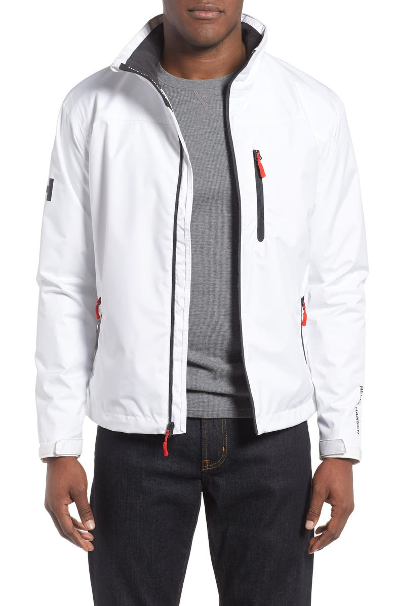 HELLY HANSEN 'Crew' Waterproof & Windproof Jacket, Main, color, BRIGHT WHITE