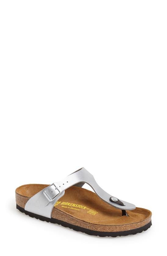 Birkenstock Women's Gizeh T-strap Sandals In Silver