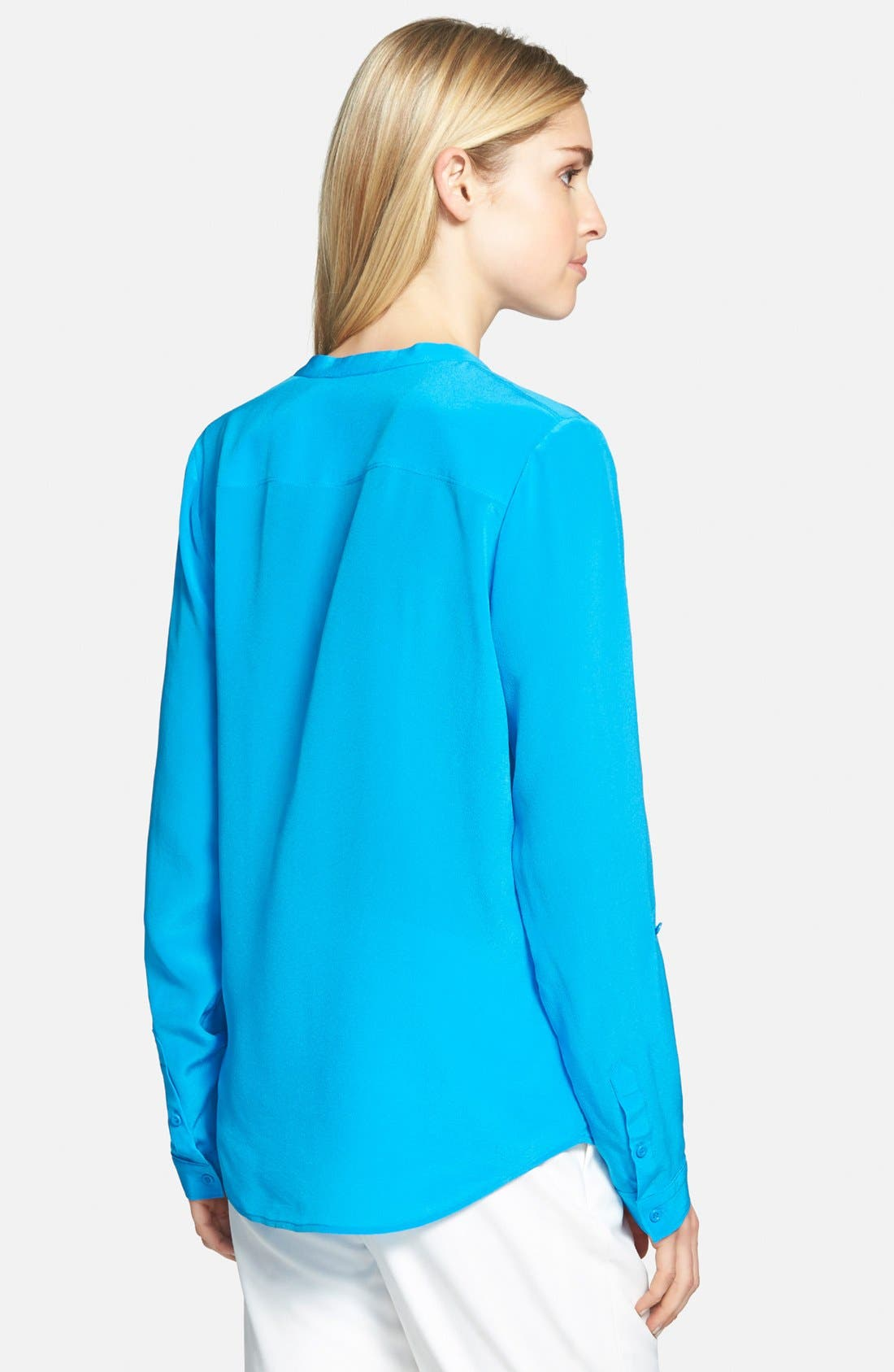 ,                             Collarless Silk Blouse,                             Alternate thumbnail 50, color,                             420