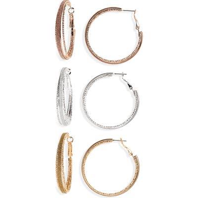Bp. 3-Pack Glitter Hoop Earrings