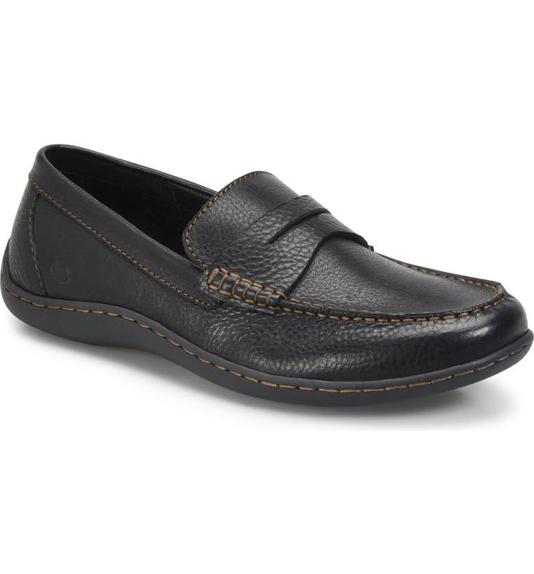 BØRN Simon II Driving Shoe, Main, color, BLACK LEATHER