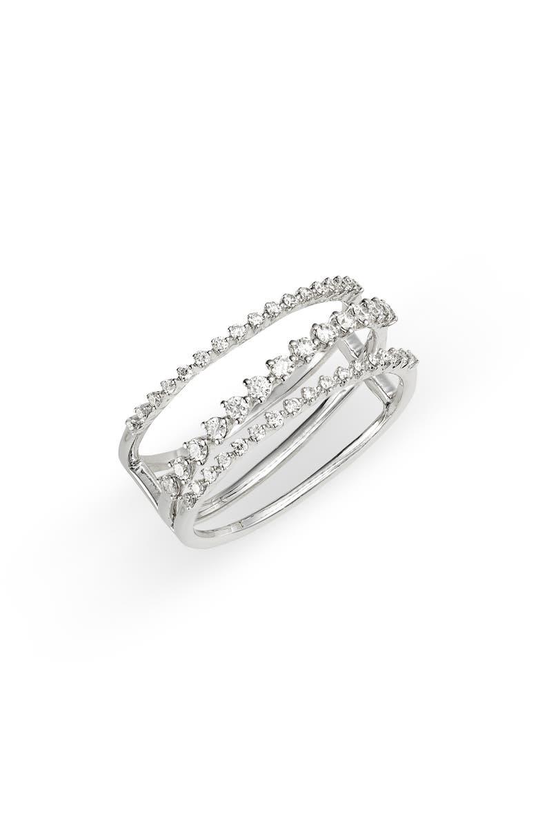 BONY LEVY Liora Diamond Stack Ring, Main, color, WHITE GOLD/ DIAMOND