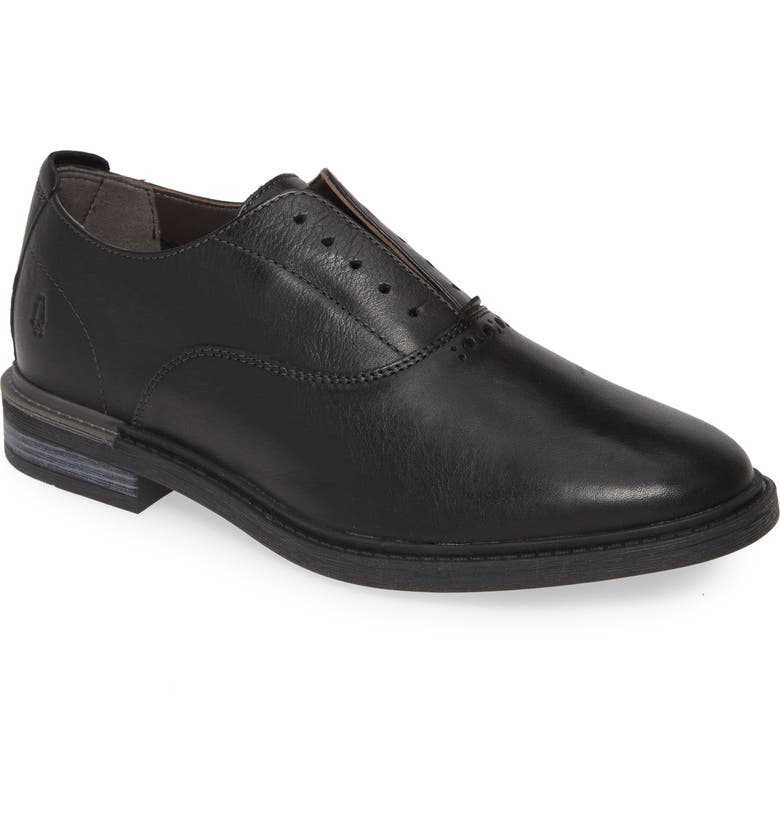 HUSH PUPPIES<SUP>®</SUP> Hush Puppies Davis Plain Toe Oxford, Main, color, BLACK LEATHER