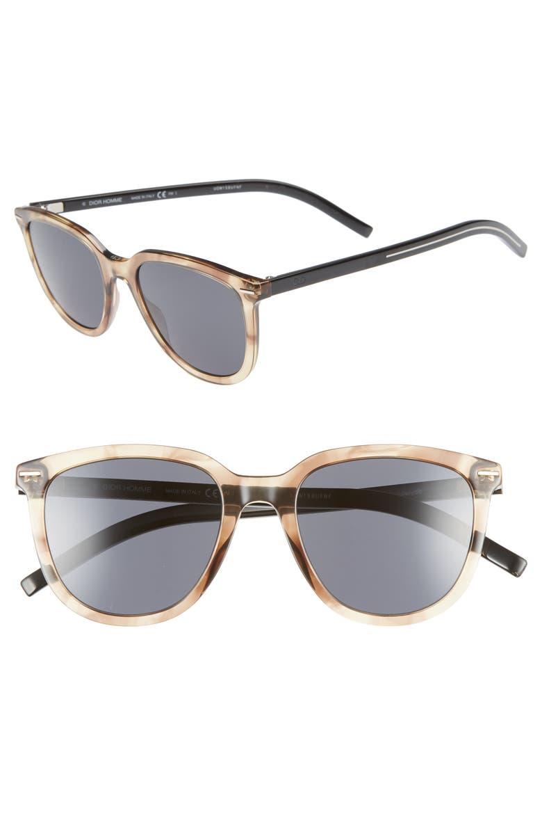 DIOR 51mm Polarized Sunglasses, Main, color, BROWN HAVANA