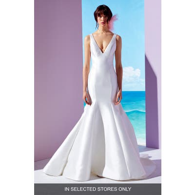 Ines By Ines Di Santo Bailey Trumpet Gown, Size - Ivory