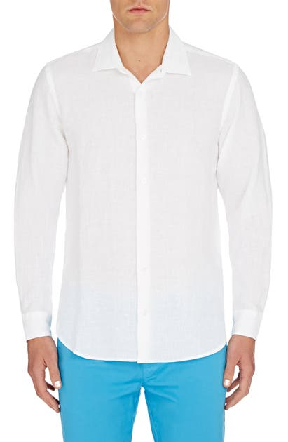 Orlebar Brown T-shirts GILES SLIM FIT LINEN BUTTON-UP SHIRT