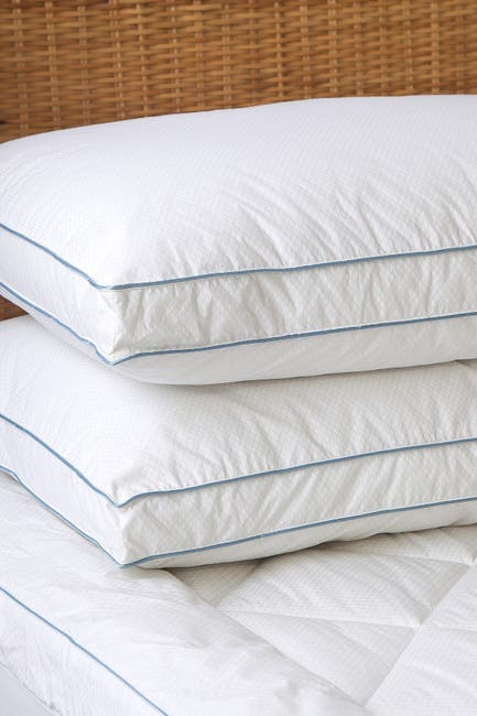Image of CLIMAREST Tempa Sleep Queen Cotton Cooling Down Alternative Gusseted Pillow