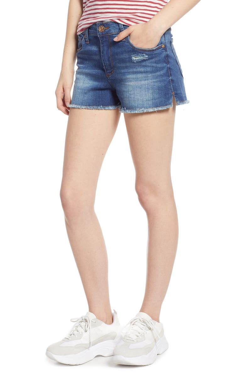STS BLUE Aubrey Ripped High Waist Boyfriend Shorts, Main, color, NORTH GREENDALE
