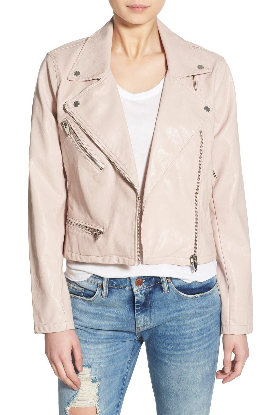 ,                             Faux Leather Moto Jacket,                             Main thumbnail 16, color,                             681
