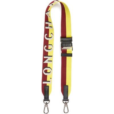 Longchamp Sangle Logo Shoulder Strap - Beige