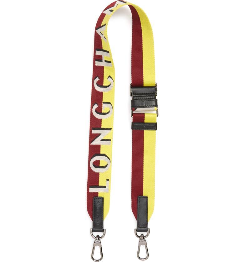LONGCHAMP Sangle Logo Shoulder Strap, Main, color, CHALK