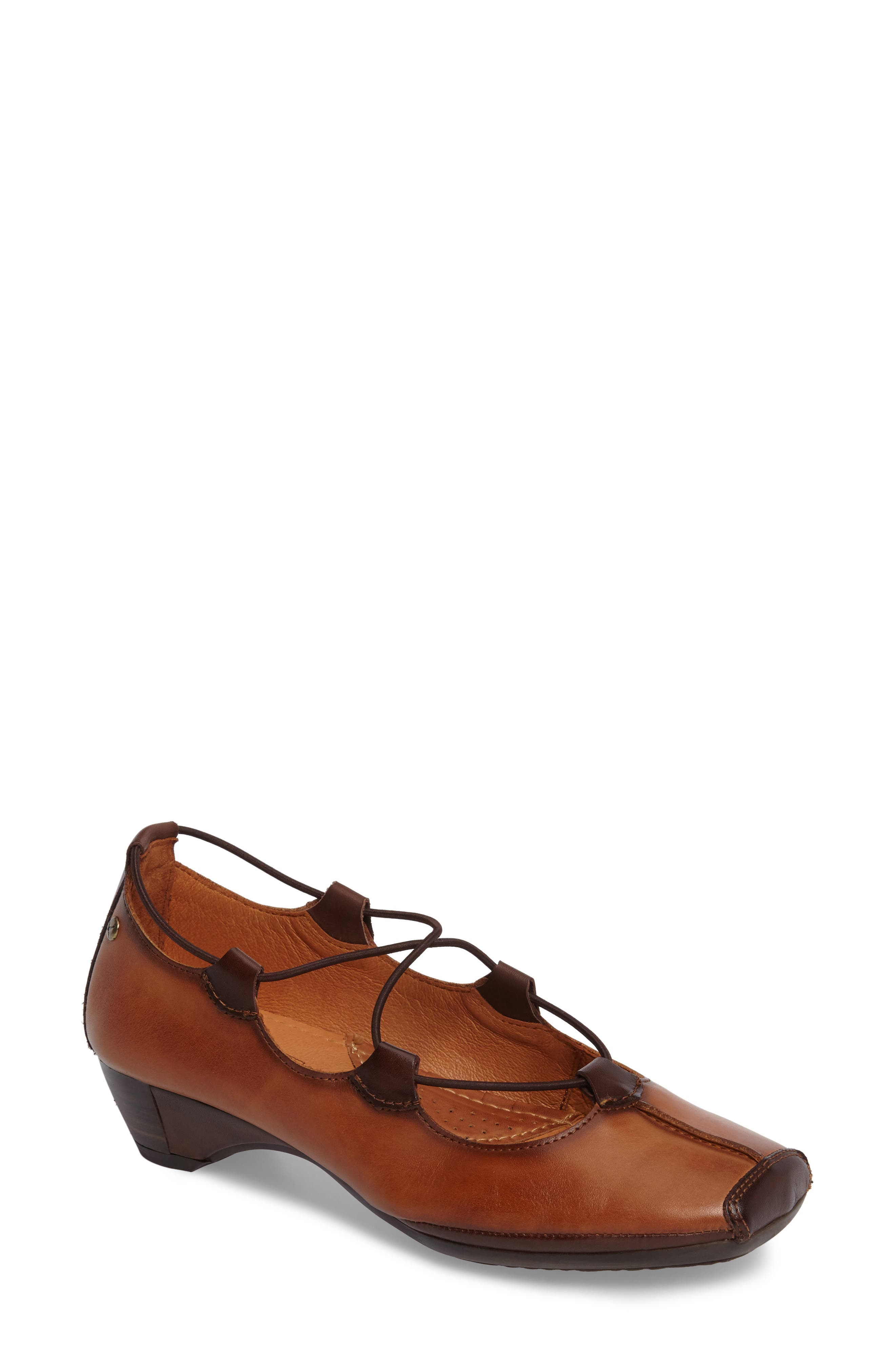 Pikolinos Gandia Lace-Up Pump, Brown