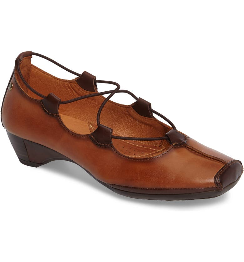 PIKOLINOS Gandia Lace-Up Pump, Main, color, BROWN BRANDY OLMO LEATHER