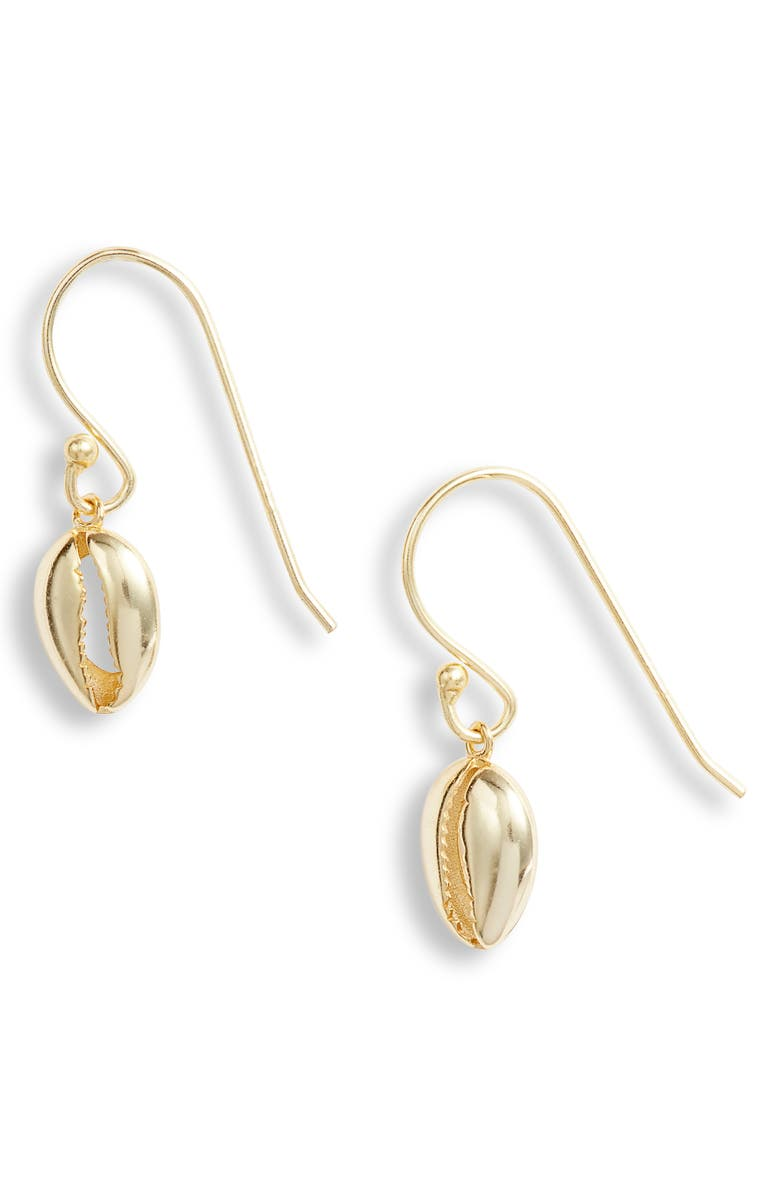 ARGENTO VIVO Sterling Silver Seychelle Drop Earrings, Main, color, GOLD