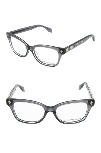 Image of Alexander McQueen 50mm Rectangle Optical Frames