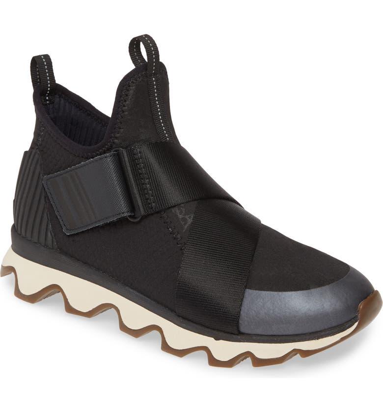 SOREL Kinetic High Top Sneaker, Main, color, BLACK FABRIC