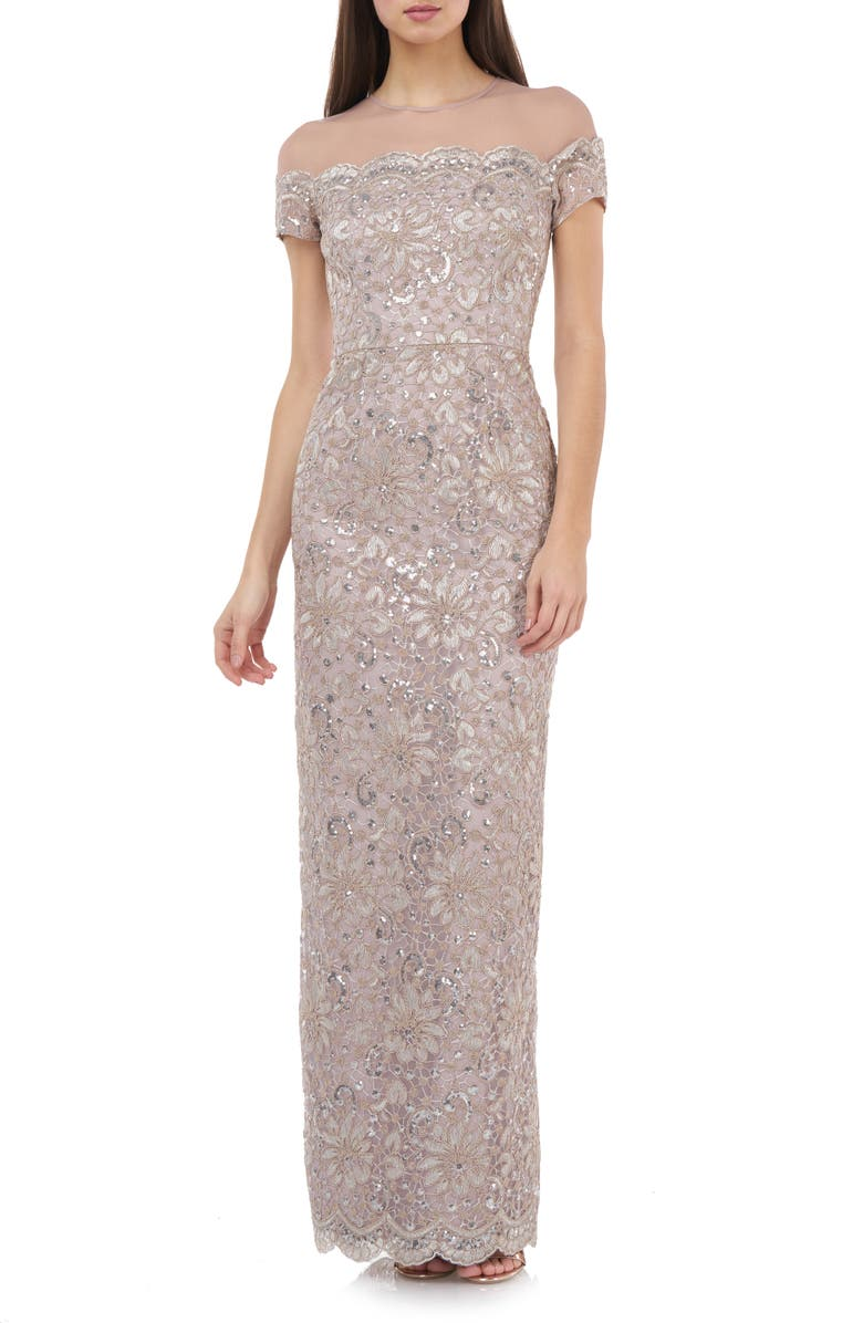 JS COLLECTIONS Sequin Lace Gown, Main, color, 255