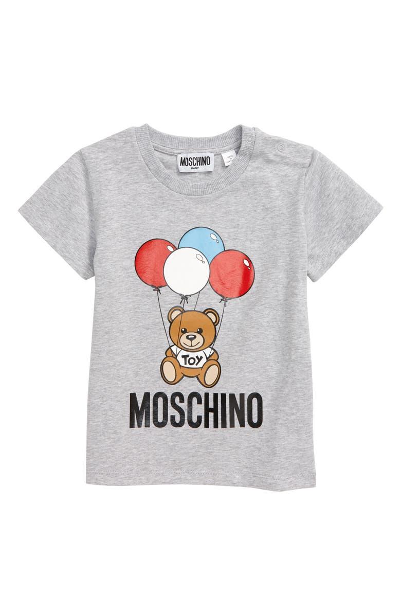 MOSCHINO Balloon Bear Graphic Tee, Main, color, 020