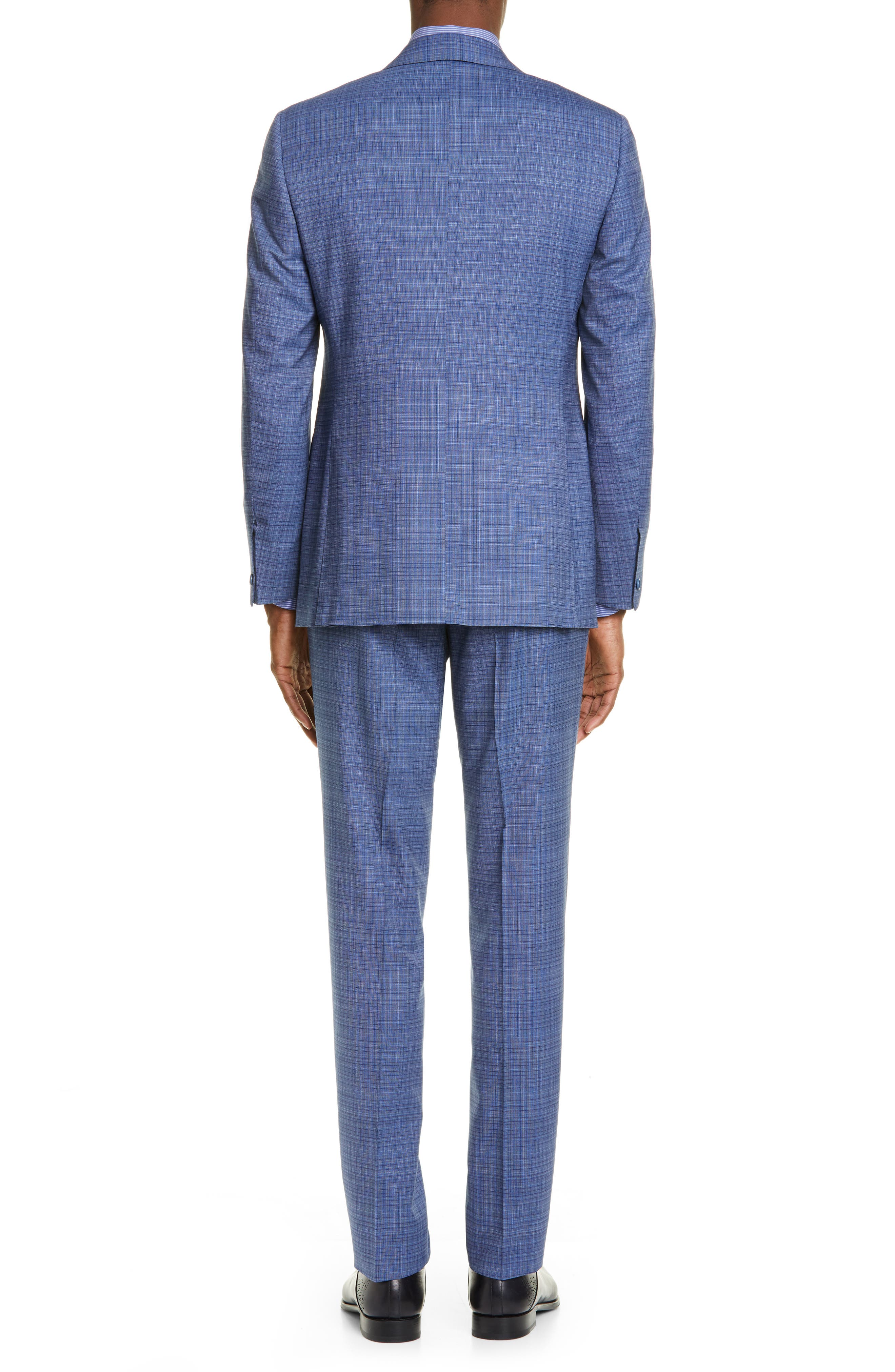 ,                             Milano Classic Fit Check Wool Suit,                             Alternate thumbnail 2, color,                             BLUE